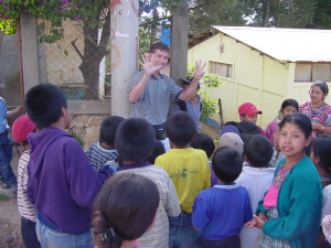 Matthew Kane teaching numbers in Guatemala