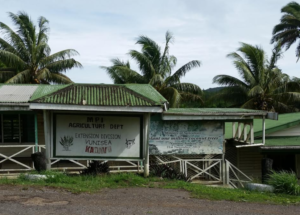 Kadavu's agricultural department signs. The island has received money to plant 1,000 coconut trees to replace those lost in various storms.